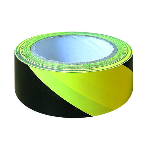 Black And Yellow Hazard Tape 33m (Pack of 6) HZT3348