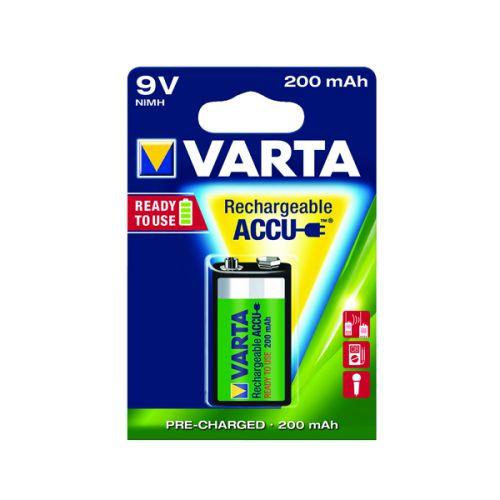 Varta 9V Rechargeable Accu Battery NiMH 200 Mah 56722101401
