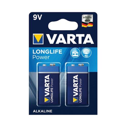 Varta Longlife Power 9V Battery (Pack of 2) 04922121412
