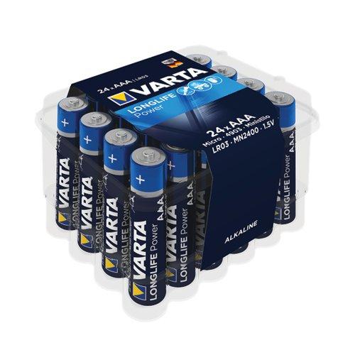 Varta Longlife Power AAA Battery (Pack of 24) 04903121124