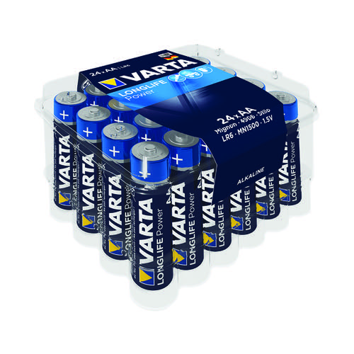 Varta Longlife Power AA Battery (Pack of 24) 04906121124