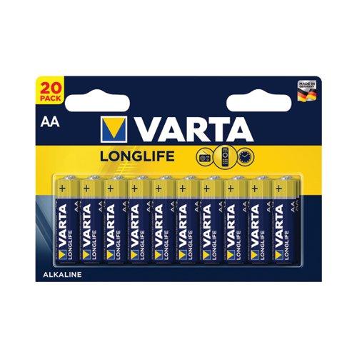 Varta Longlife AA Battery (Pack of 20) 04106101420