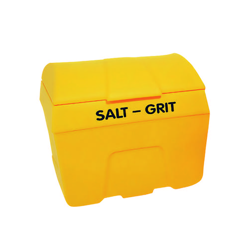 Road Salt & Grit Hopper Box Extra Large 400 Litre Strong Yellow Plastic