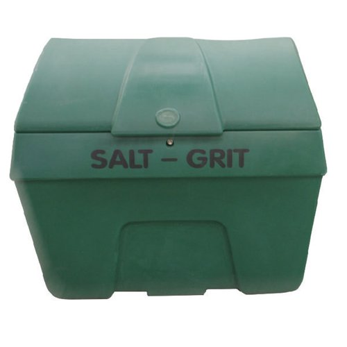 Winter Salt/Grit Bin Lockable No Hopper 400 Litre Green 317070