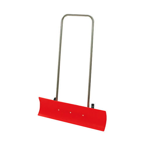 Large Wide Blade Snow Shovel Paddle Pusher Red Plastic 87cm
