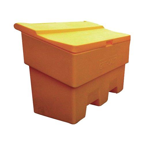 Winter Grit Rock Salt Storage Bin Large 170 Litre Yellow