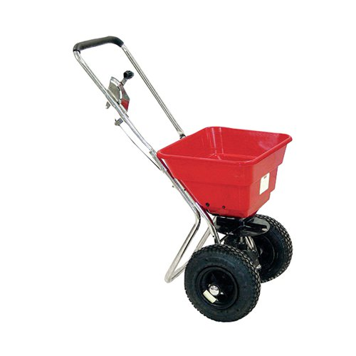 Salt Spreader 36kg with Rain Cover Red 380945