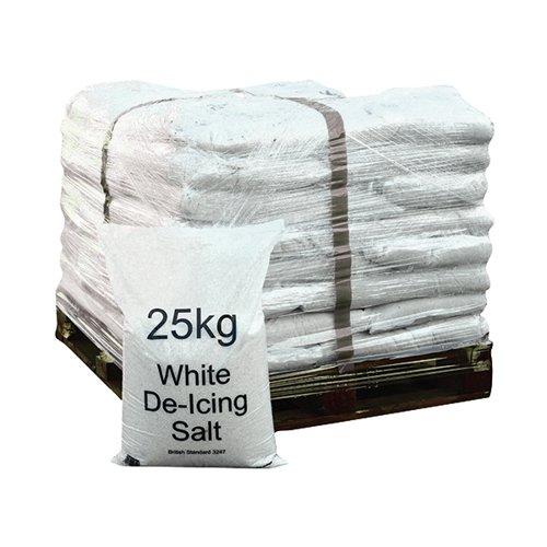 De-Icing White Rock Salt for Winter Roads Large Bulk Pallet 25kg Bags x 40