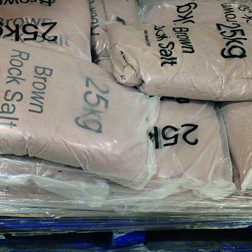 Winter Dry Brown Rock Salt 25kg (Pack of 10) 383579