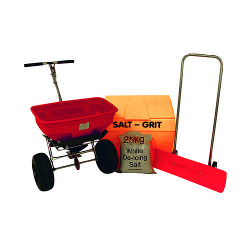 Winter Car Park Kit ( 200 litre grit bin, snow plough snow pusher) 385077