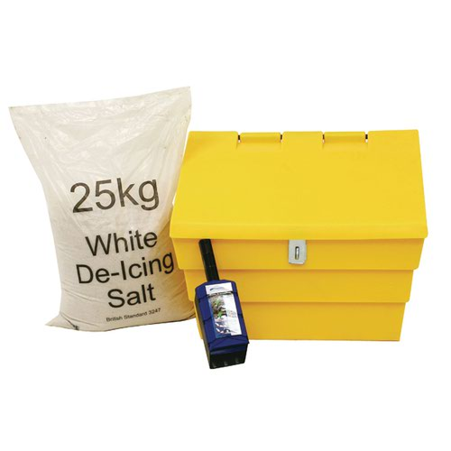 50 Litre Lockable Grit Bin and 25kg Salt Kit 389116