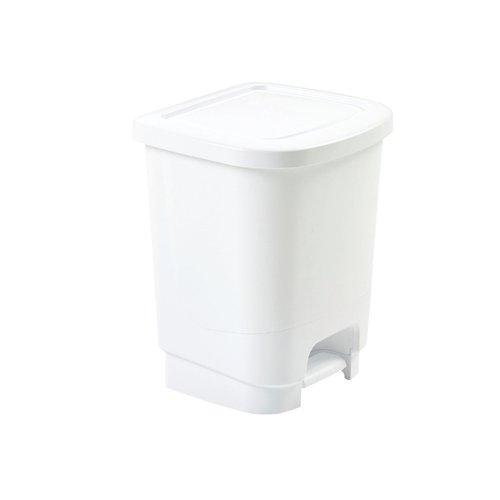 Whitefurze Pedal Bin 8 Litre White H10PB4
