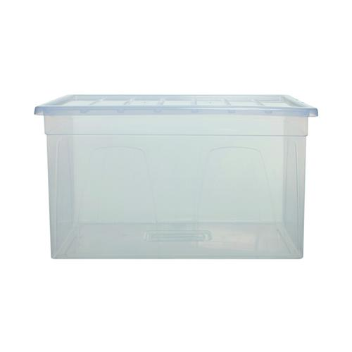Whitefurze MaxiSpaceMaster 96 Litre Clear S0975MXL0WF