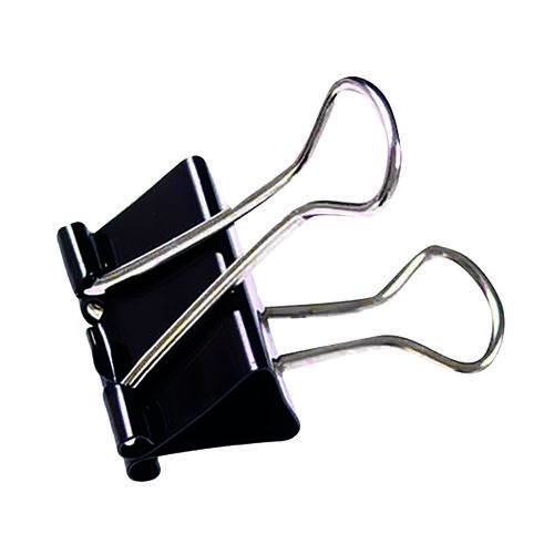 Foldback Clip 25mm Black (Pack of 100) 22781