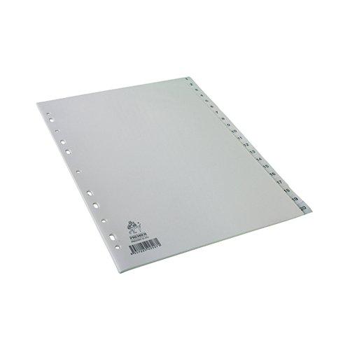 A4 White 1-20 Polypropylene Index WX01356