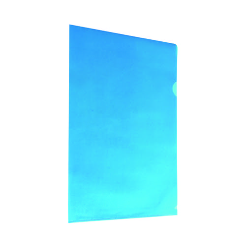 Blue Cut Flush Folders (Pack of 100) WX01486
