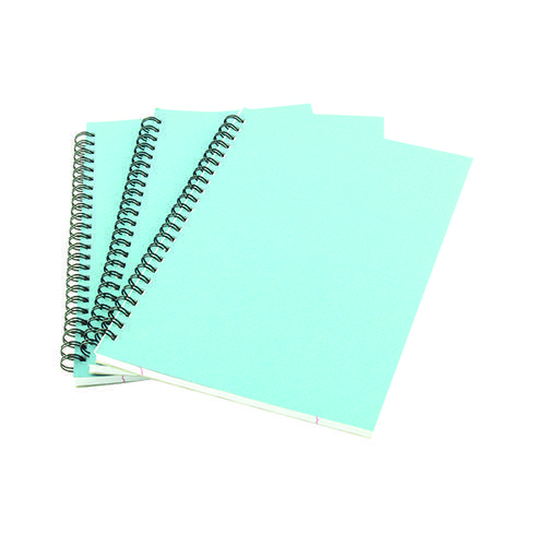 A5 Spiral Pad 80 Leaf Blue (Pack of 12) WX10039