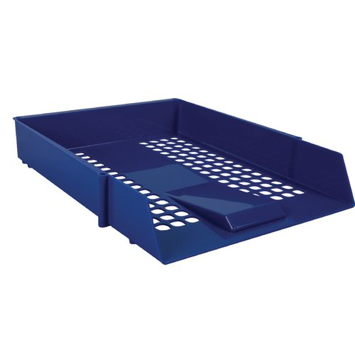 Blue Plastic Letter Tray (Pack of 12) WX10052