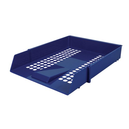 Contract Blue Letter Tray (Plastic construction mesh design) WX10052A