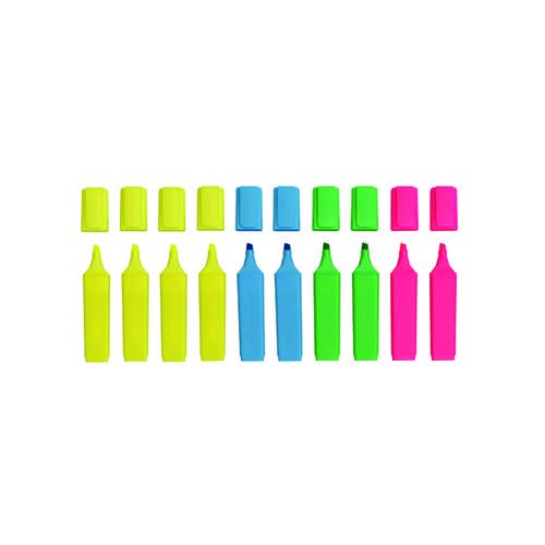 WB VALUE HI-GLO HIGHLIGHTER PENS //// PINK //// 10 PACK //// WX01112