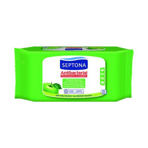 Anti Viricidal Wipes Green Apple (Pack of 60) MED500
