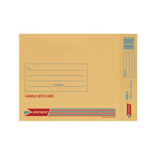 Bubble Lined Envelope Size 5 220x265mm Gold (Pack of 100) XML10050