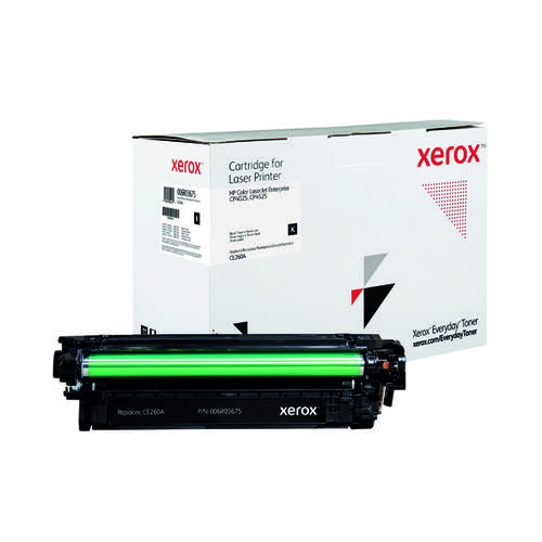 Xerox Everyday Replacement For CE260X Laser Toner Black 006R04146
