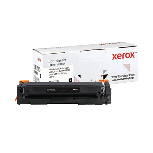Xerox Everyday Replacement For CF540A/CRG-054BK Laser Toner Black 006R04176