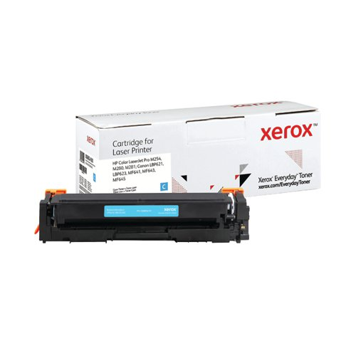 Xerox Everyday Replacement For CF541X/CRG-054HC Laser Toner Cyan 006R04181