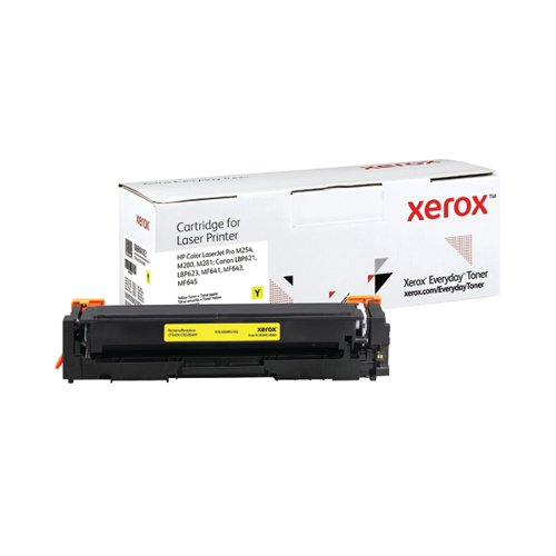 Xerox Everyday Replacement For CF542X/CRG-054HY Laser Toner Yellow 006R04182