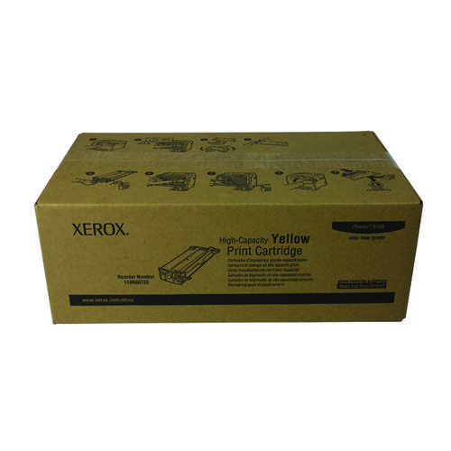 Xerox Phaser 6180 Yellow High Capacity Laser Toner Cartridge 113R00725