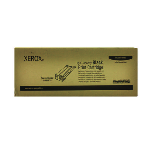 Xerox Phaser 6180 Black High Capacity Laser Toner Cartridge 113R00726