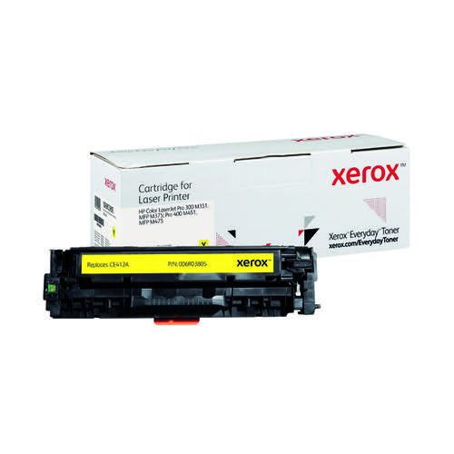 Xerox Everyday Replacement For CE412A Laser Toner Yellow 006R03805