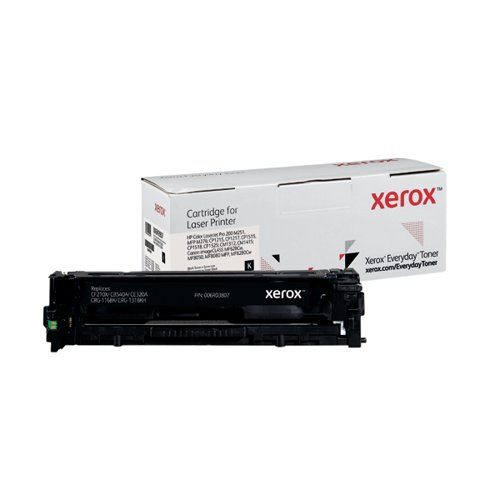 Xerox Everyday Replacement For CF210X/CB540A/CE320A/CRG-116BK/131BKH Laser Toner Black 006R03807