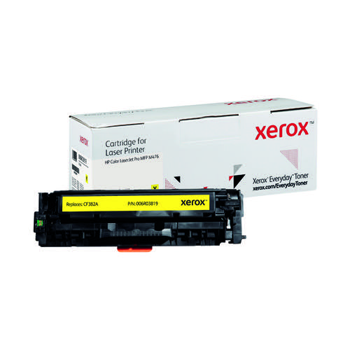 Xerox Everyday Replacement For CF382A Laser Toner Yellow 006R03819