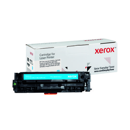 Xerox Everyday Replacement For CC531A/CRG-118C/GPR-44C Laser Toner Cyan 006R03822