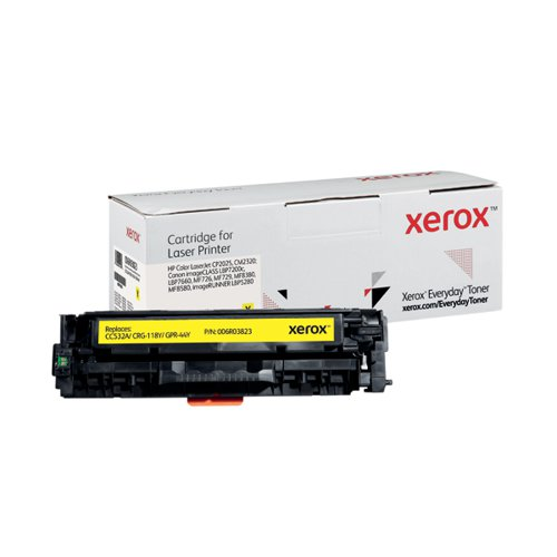 Xerox Everyday Replacement For CC532A/CRG-118Y/GPR-44Y Laser Toner Yellow 006R03823