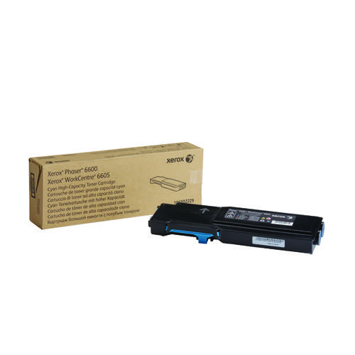 Xerox Phaser 6600 Cyan High Capacity Toner Cartridge 106R02229
