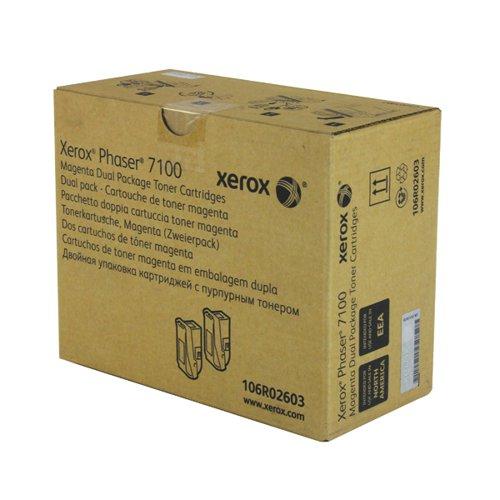 Xerox Phaser 7100 Magenta High Yield Toner (Pack of 2) 106R02603