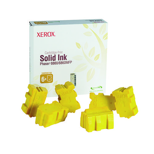 Xerox Phaser 8860/MFP Yellow Ink Stick (Pack of 6) 108R00748
