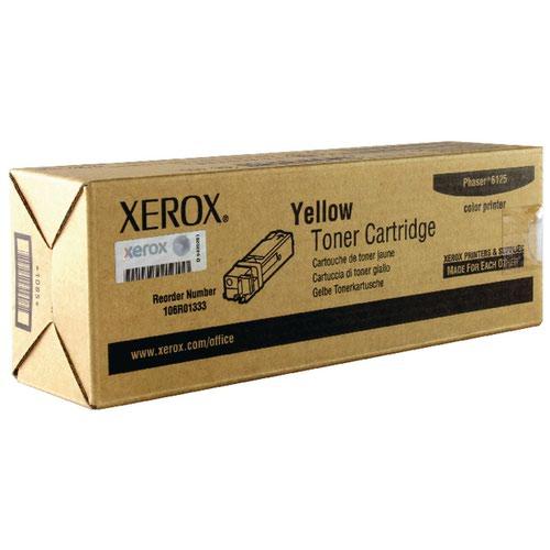 Xerox Phaser 6125 Yellow Toner Cartridge 106R01333