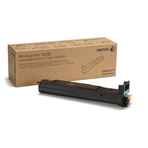 Xerox WorkCentre 6400 Cyan High Capacity Toner Cartridge 106R01317