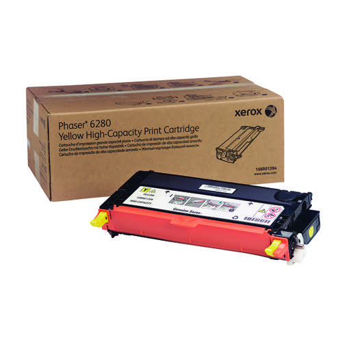 Xerox Phaser 6280 Yellow High Yield Toner Cartridge 106R01394
