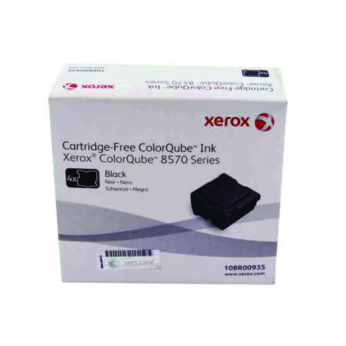 Xerox ColorQube 8570 Black Ink Stick 8.6K (Pack of 4) 108R00935