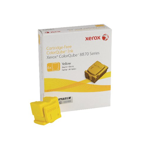 Xerox ColorQube 8870 Yellow Ink Stick 17K (Pack of 6) 108R00956