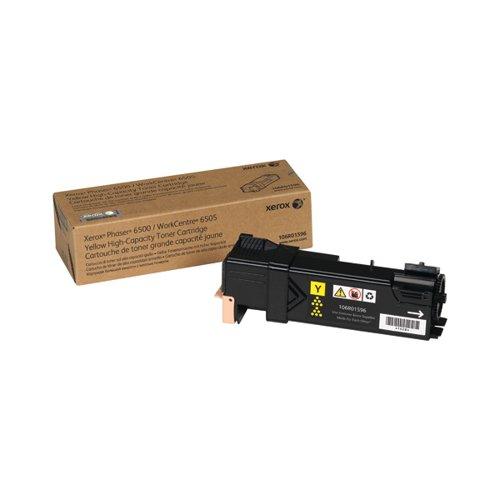 Xerox Phaser 6500 Yellow High Capacity Toner Cartridge 106R01596
