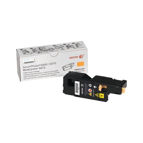Xerox Phaser 6010 Yellow Toner Cartridge 106R01629
