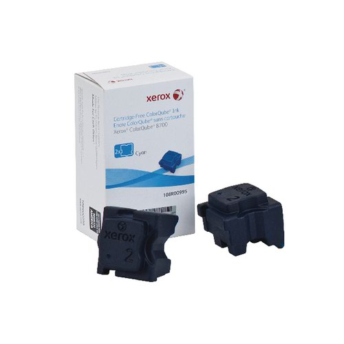 Xerox ColorQube 8700 Cyan Ink Stick (Pack of 2) 108R00995