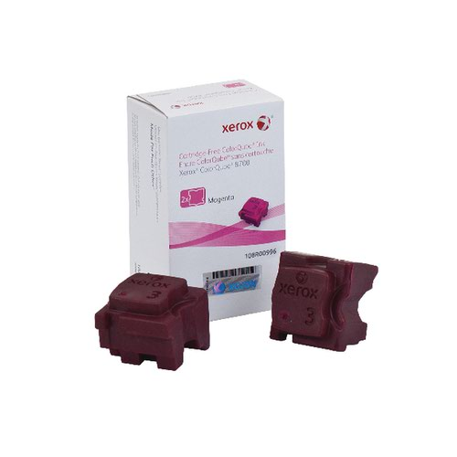 Xerox ColorQube 8700 Magenta Ink Stick (Pack of 2) 108R00996