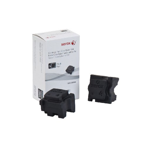 Xerox ColorQube 8700 Black Ink Stick (Pack of 2) 108R00998